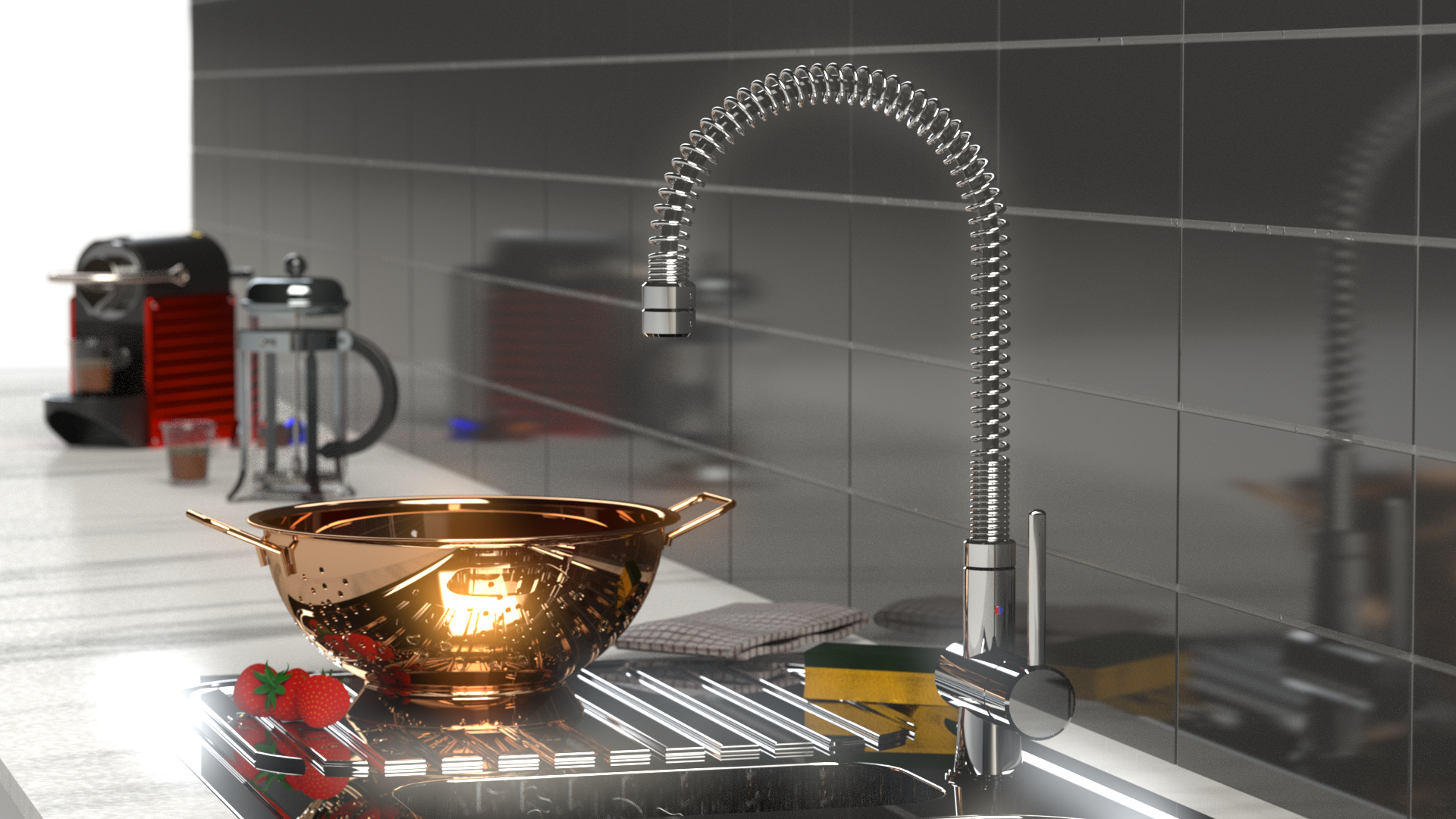 Render of kitchen tap